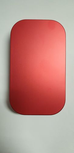 J. PARKER - ALUMINIUM FLY BOX RIPPLE FOAM - RED